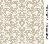 floral pattern. wallpaper... | Shutterstock . vector #203585563