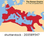 the roman empire in ancient... | Shutterstock .eps vector #203589547
