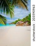 amazing tropical summer beach | Shutterstock . vector #203590963