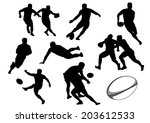 The Set Of Rugby Player...