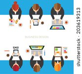 creative business and office... | Shutterstock .eps vector #203619313