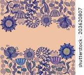 floral nature pattern...   Shutterstock . vector #203620807