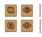 vintage labels set. | Shutterstock .eps vector #203622043