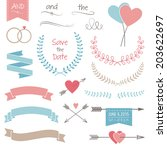 wedding graphic set  arrows ... | Shutterstock .eps vector #203622697
