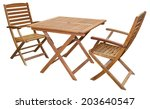 Set Of Folding Wooden Garden...
