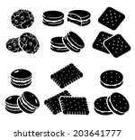 cookies set. vector | Shutterstock .eps vector #203641777