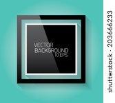 vector modern black frame on...   Shutterstock .eps vector #203666233