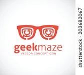 geek maze vector concept symbol ... | Shutterstock .eps vector #203682067