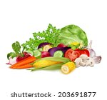 fresh vegetable organic food... | Shutterstock . vector #203691877