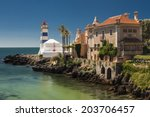 view of santa marta lighthouse...   Shutterstock . vector #203706457