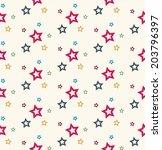 stars seamless pattern | Shutterstock .eps vector #203796397