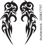 tattoos for arms and shoulders... | Shutterstock .eps vector #203817757