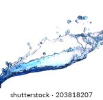 water  splash  | Shutterstock . vector #203818207