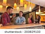 photo of joyful friends in the... | Shutterstock . vector #203829133
