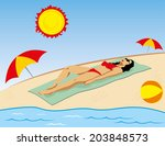 person taking sun bather