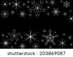 Illustration Of Snowflakes On...
