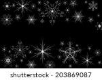 Illustration Of Snowflakes On...