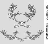 laurel engraving style  | Shutterstock .eps vector #203880187