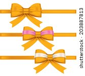 colorful gift bows with ribbons   Shutterstock .eps vector #203887813