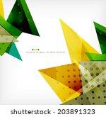3d geometric shape abstract... | Shutterstock . vector #203891323
