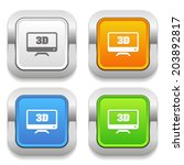 four color square button with... | Shutterstock .eps vector #203892817