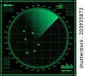 radar screen. vector eps10.   Shutterstock .eps vector #203935873