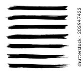 vector set of grunge brush... | Shutterstock .eps vector #203947423