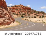 Scenic Road In Utah  Usa