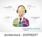 customer service concept... | Shutterstock .eps vector #203998297