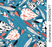 graphic nature pattern with... | Shutterstock .eps vector #204020677