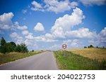 speed limit 60 sign on rural... | Shutterstock . vector #204022753