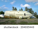 abandoned airplane   Shutterstock . vector #204035443