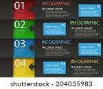 infograhic modern design... | Shutterstock .eps vector #204035983