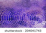 close up of snakeskin leather ... | Shutterstock . vector #204041743