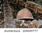 Old Miner's Helmet In An...