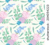 seamless pattern   simple... | Shutterstock .eps vector #204054223