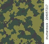 olive seamless camo texture... | Shutterstock .eps vector #204057217