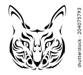 cat tattoo icon  | Shutterstock . vector #204075793