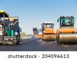 asphalting construction works...   Shutterstock . vector #204096613