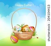 illustration of basket full of...   Shutterstock . vector #204104413