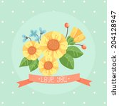 floral composition | Shutterstock .eps vector #204128947