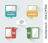 ui devices with speech bubbles  ...