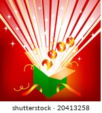 an open gift box with the new... | Shutterstock .eps vector #20413258