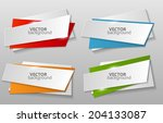 collection of origami banners... | Shutterstock .eps vector #204133087