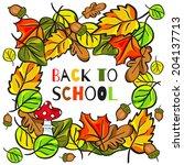 back to school   vector poster... | Shutterstock .eps vector #204137713