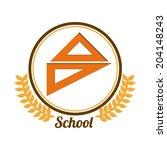 school design over white... | Shutterstock .eps vector #204148243