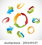 set of arrows vector icons for... | Shutterstock .eps vector #204149137