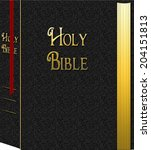 holy bible graphic with... | Shutterstock . vector #204151813