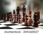 chess board with chess pieces... | Shutterstock . vector #204160027