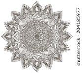 mandala. round ornament vector... | Shutterstock .eps vector #204185977